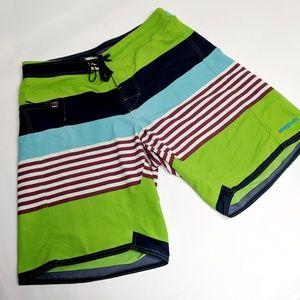 Patagonia Wavefarer Striped Boardshorts Size 33